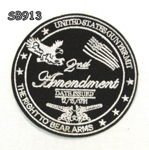 2ND AMENDMENT THE RIGHT Iron on Small Patch for Biker Vest SB913