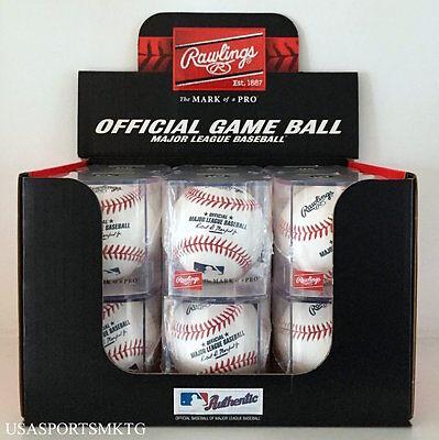 (12) Rawlings Official Major League Game Baseball Manfred Cubed - 1 Dozen