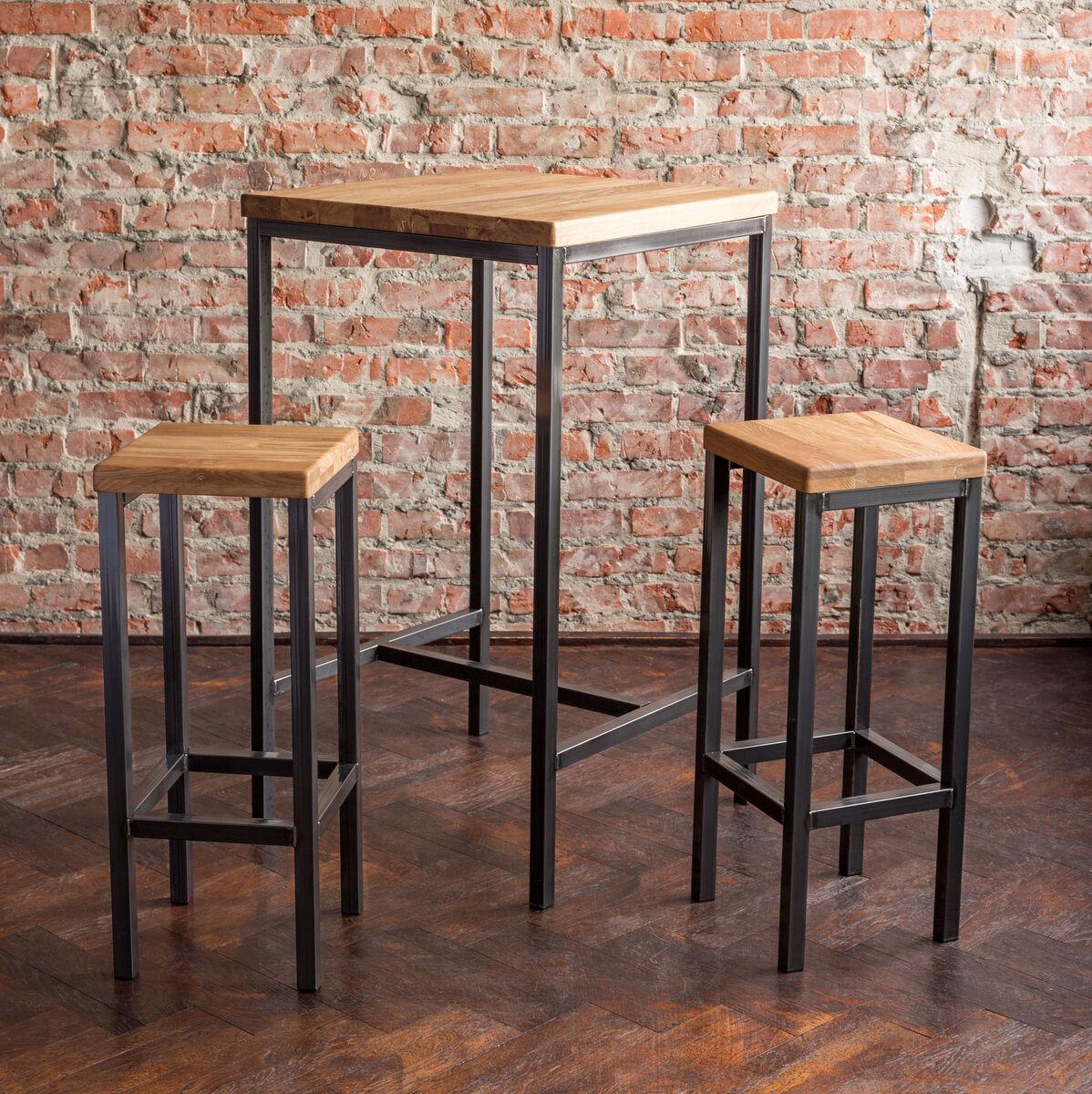 BestLoft® Bartisch Stehtisch Barhocker Tresen Barstuhl Bar Industrie Design Loft