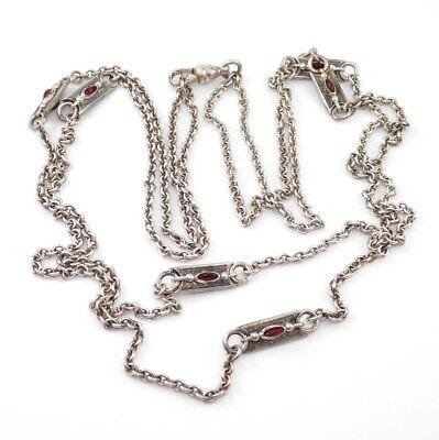 "Antique Victorian Watch Chain Necklace 28"""