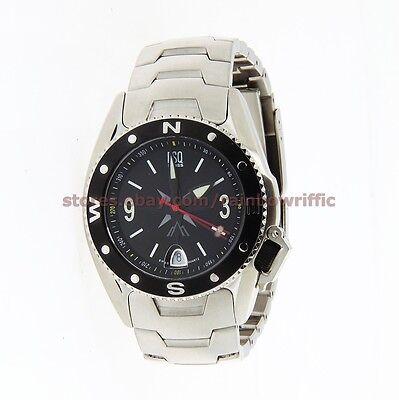 ESQ by Movado Men's Calendar Watch 07301121 Tactical Black Bezel SS Bracelet Esq Sport Bracelet