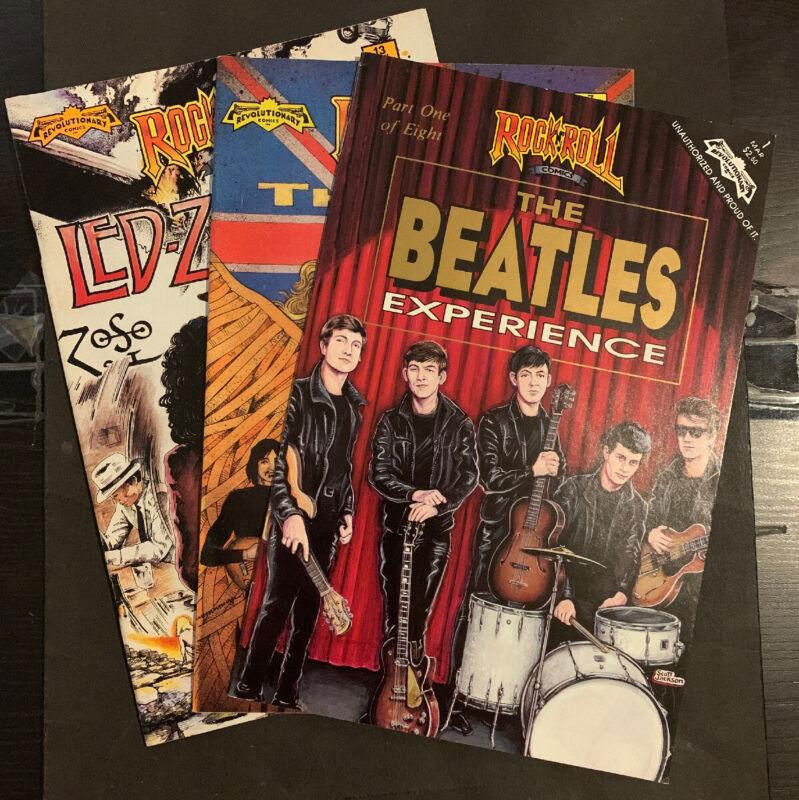 Rock N Roll Comics #1 Beatles, #7 The Who, & #13 Led Zeppelin (Revolutionary) FN