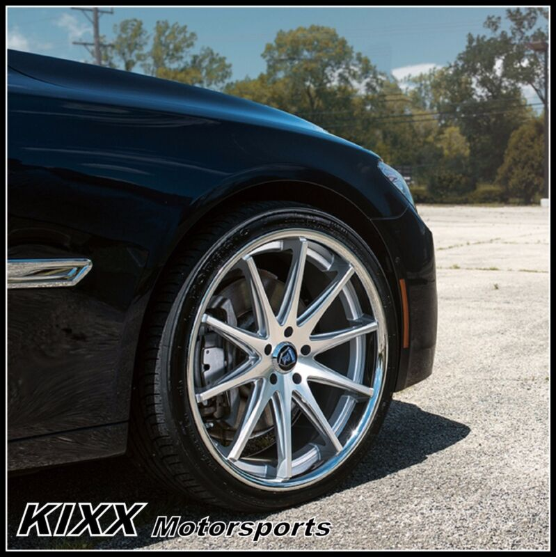 """20"""" Rohana Rc10 20x9/10 Silver Concave Wheels For Bmw F01 740 750 760"""