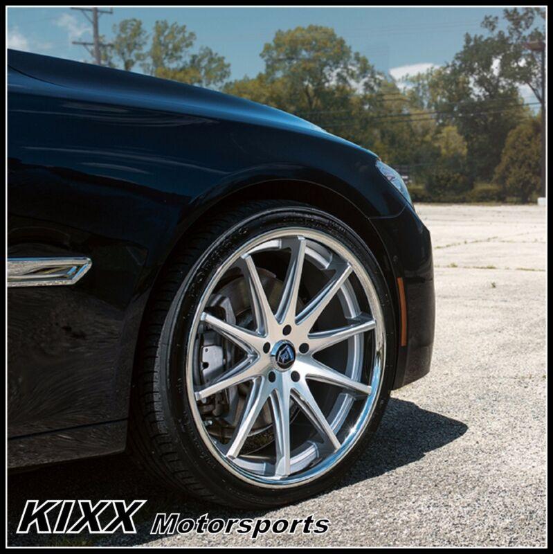 """20"""" Rohana Rc10 20x9/10 Silver Concave Wheels Rims For Bmw E38 740i 740il 750il"""