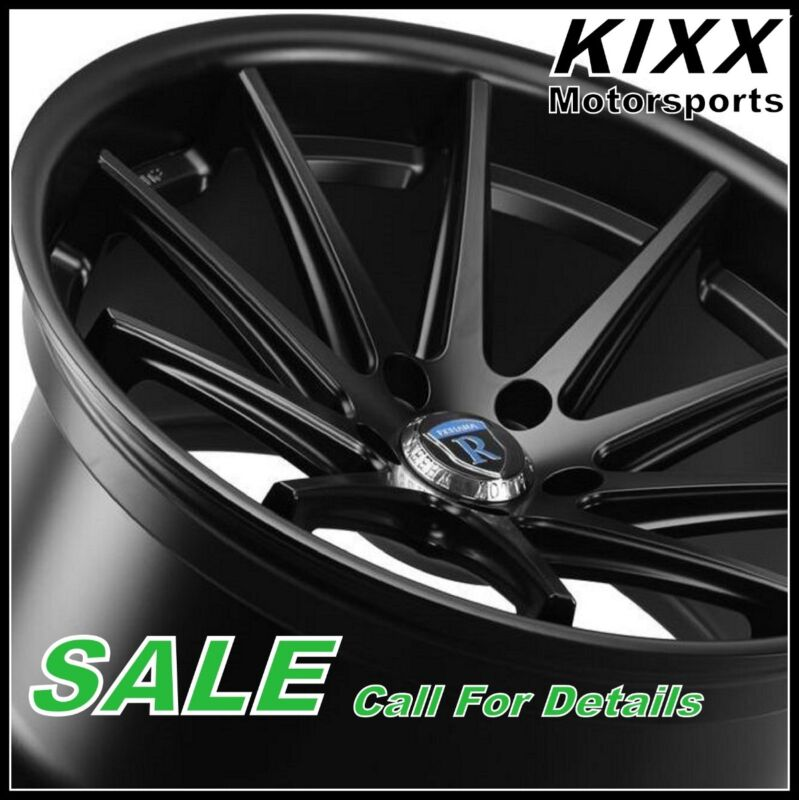 "22"" Rohana Rc10 22x9 22x10.5 Black Concave Wheels Rims For Cadillac Cts V Coupe"