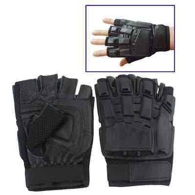 Taktische Security Handschuhe Polizei Handschuhe aus Leder mit Schutzpolster ()