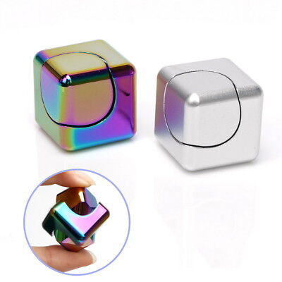 Hand Spinner Tri Autism EDC Toy Cube ADHD Square Fidget Bearing Aluminum Focus