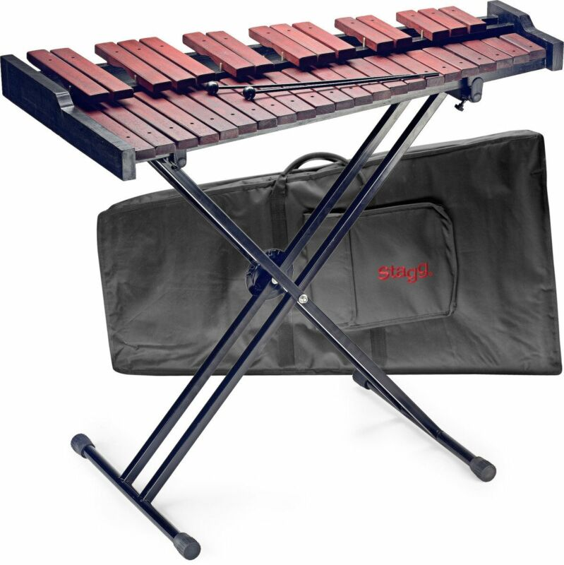 Stagg Professional 37-Key Wooden Xylophone with Mallets & Stand - XYLO-SET 37