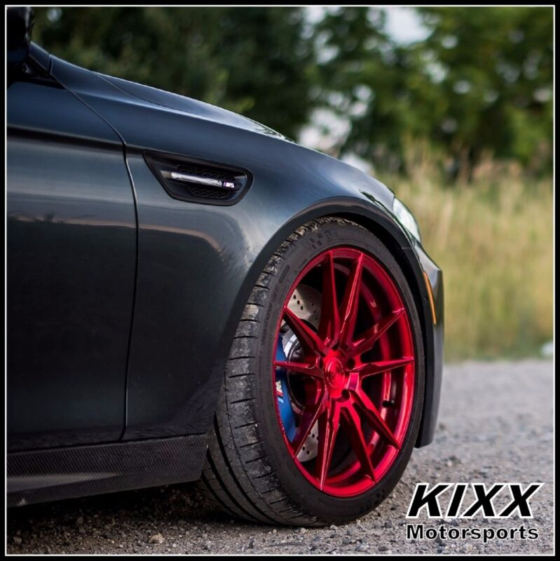 "20"" ROHANA RF2 20x9 20x10 RED CONCAVE WHEELS For BMW F32 428i 435i COUPE"