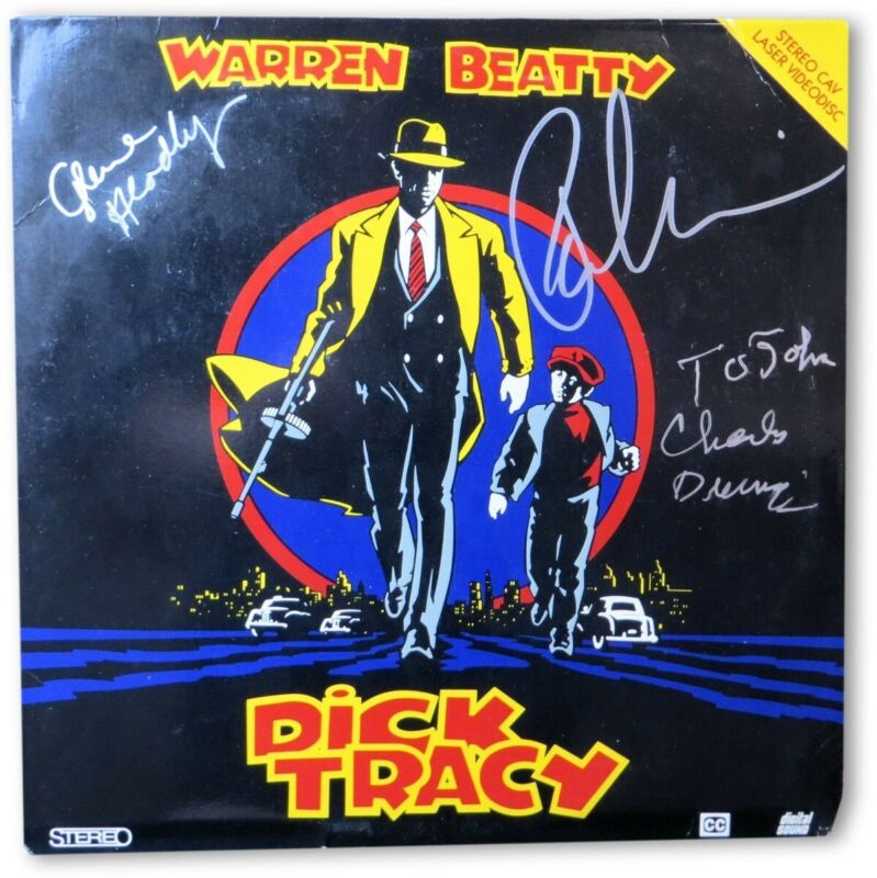 Dick Tracy Multi Signed Autographed Laserdisc Durning Sorvino Headly JSA II23293