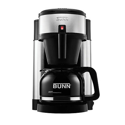 BUNN NHS 10 Cup Velocity Beverage Coffee Maker Black and Stainless Brewer