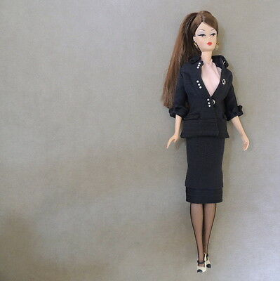 Barbie 2000s SILKSTONE Lunch At The Club Early Fashion Navy Suit 26931 Mattel