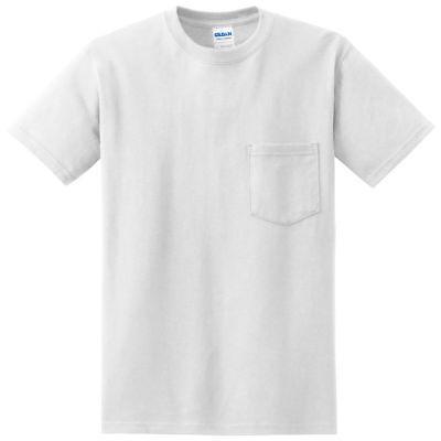 Gildan Men's Adult Seamless Chest Pocket Comfort jersey T-Shirt, Pack6. 2300