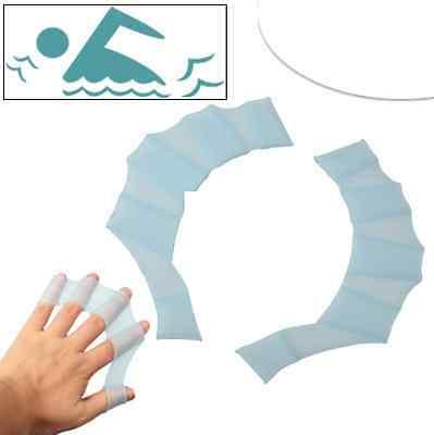 Finger Flossen gelb oder blau Gr. S M L Schwimmhäute Handpaddel Aqua Training