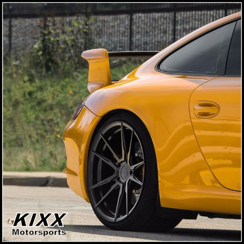 "20"" Rohana Rf2 9/12 Black Concave Wheels For Porsche"