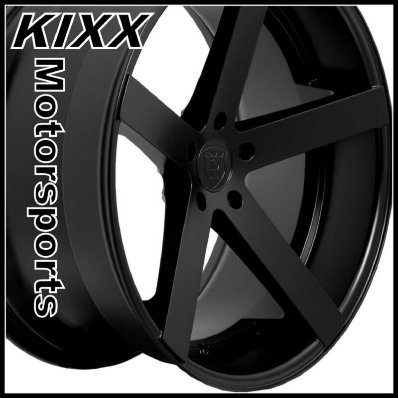 "20"" Rohana Rc22 20x9/11 Black Concave Wheels Rims For Bmw E90 M3 Sedan"