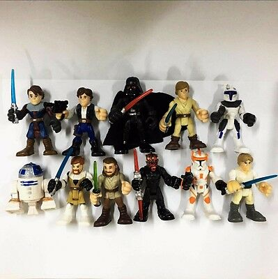 Random 5pcs Star Wars Playskool Galactic Heroes Jedi Force action figure Boy toy