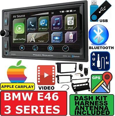 Apple Stereo-system (BMW E46 GPS NAVIGATION SYSTEM BLUETOOTH APPLE CARPLAY CAR RADIO STEREO PACKAGE)