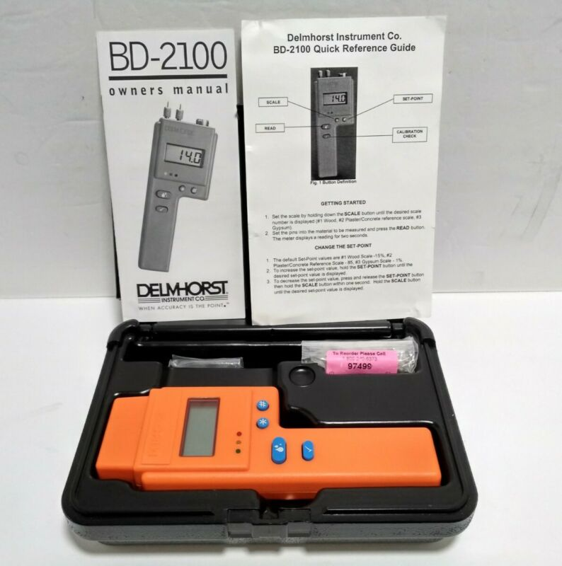 Delmhorst BD-2100 Digital Moisture Meter with Carrying Case NEW