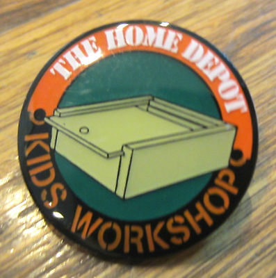 (The Home Depot Kids Workshop Box With Sliding Lid Hat Lapel Pin)