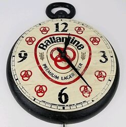 Vintage Ballantine Beer Premium Lager Oversized Pocket Watch Electric Wall Clock