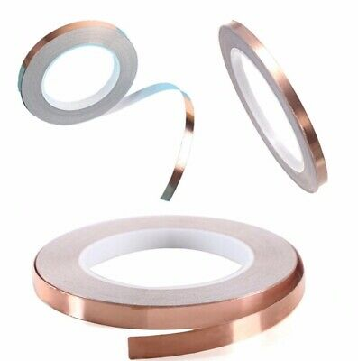 20 Roll Copper Foil Tape Single Conductive Emi Shielding Adhesive