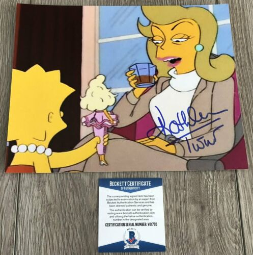 KATHLEEN TURNER SIGNED THE SIMPSONS 8x10 PHOTO w/EXACT PROOF & BECKETT BAS COA