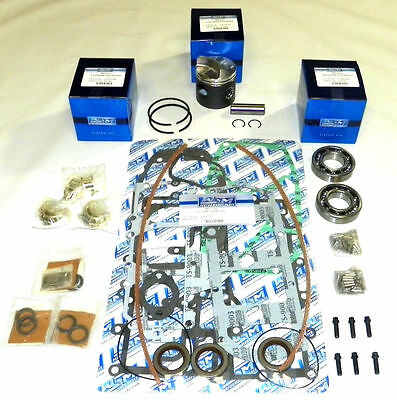 Mercury 50 / 60 Hp 3 Cyl Cross Flow Low Dome Rebuild Kit - STD SIZE 100-15-10