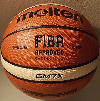 Molten Gm7x Basketball  Bgm7x  Composite Leather Fiba Approved Size 7   29 5
