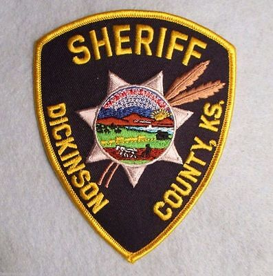 "Dickinson County Sheriff Patch - Kansas - 4"" x 4 7/8"""