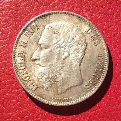 Belgique - Léopold II -  Magnifique Monnaie de 5 Francs 1871   en Argent