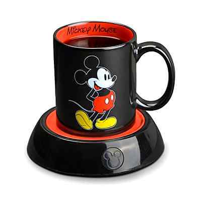 New Disney Classic Mickey Mouse Electric Coffee Mug Warmer 10Oz Ceramic Cup Soup