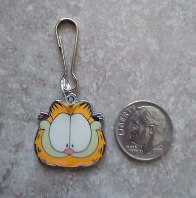 New Garfield The Cat Enamel Charm Zipper Pull Clip Cartoon Movie TV Character