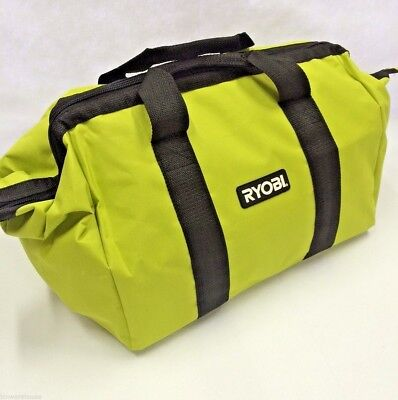 Ryobi One Contractors Canvas Green Wide-Mouth Tool Bag 17 X 12 X 12