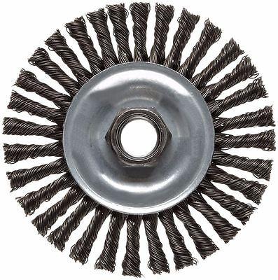 Weiler 36018 Wire Wheel Brush 4 Stringer Knotted Carbon Steel X0739b