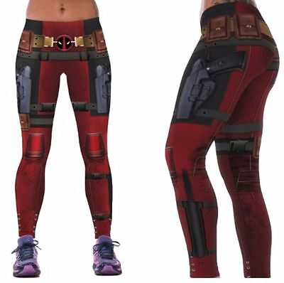 Marvel Comics DEADPOOL Suit Up Yoga Pants osfm Leggings  PREMIUM QUALITY! (Deadpool Suit)