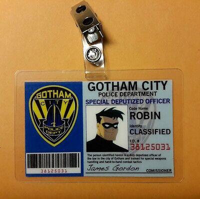 Batman Animierter Badge-Gotham Stadt Robin Cosplay - Robin Cosplay Kostüm Batman