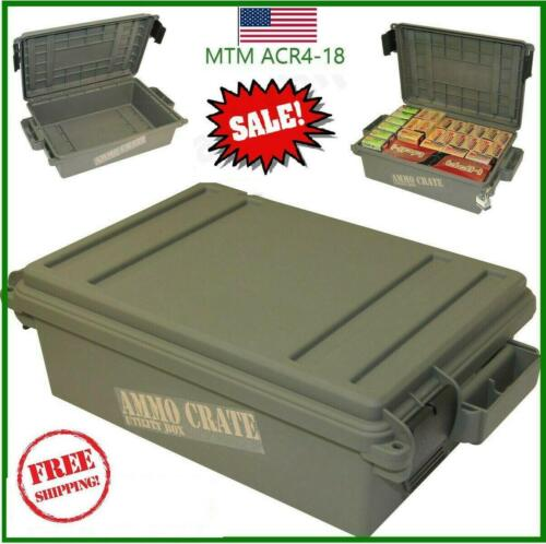 Military Ammo Box Plastic Ammo Storage Case 65 Lbs Ammunition Crate Utility