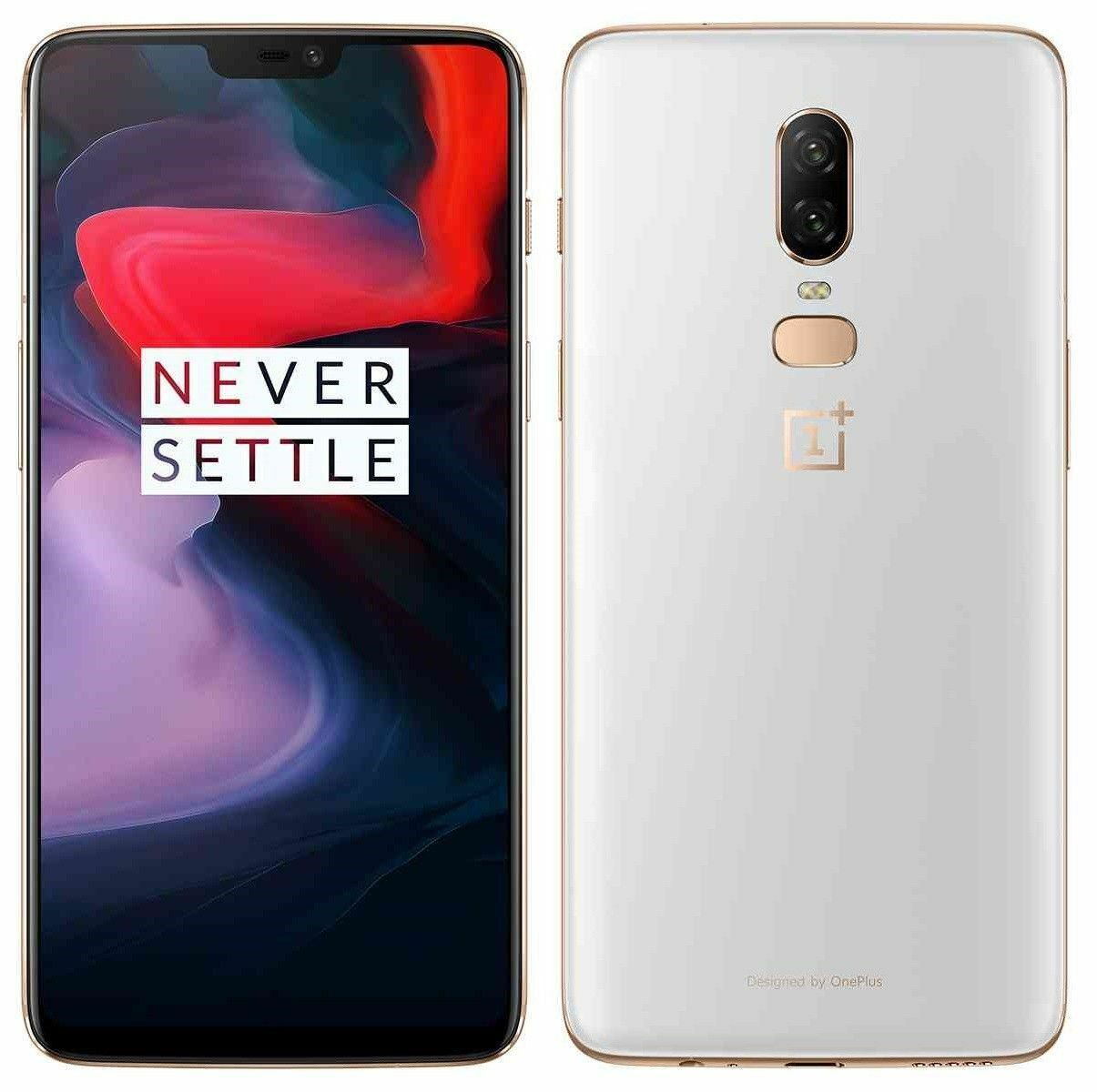 "OnePlus 6 128GB A6000 (FACTORY UNLOCKED) 6.28"" 16MP 8GB RAM  White Black Red"