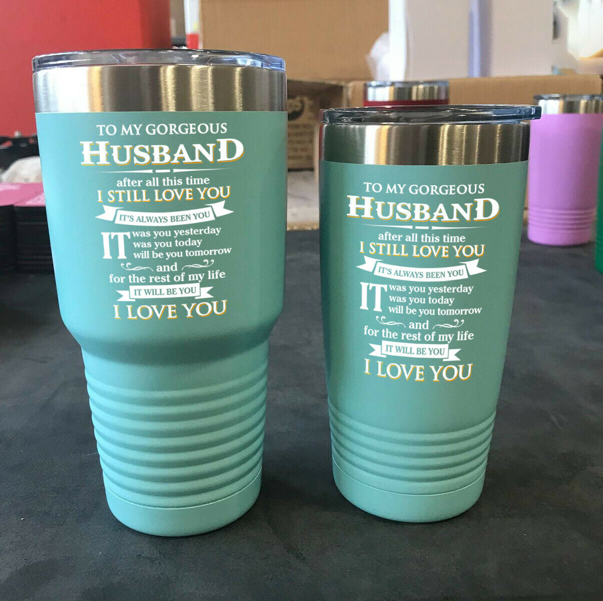 Anniversary Gift Tumbler Wedding Vows I Love You for Husband Wife Spouse Gift