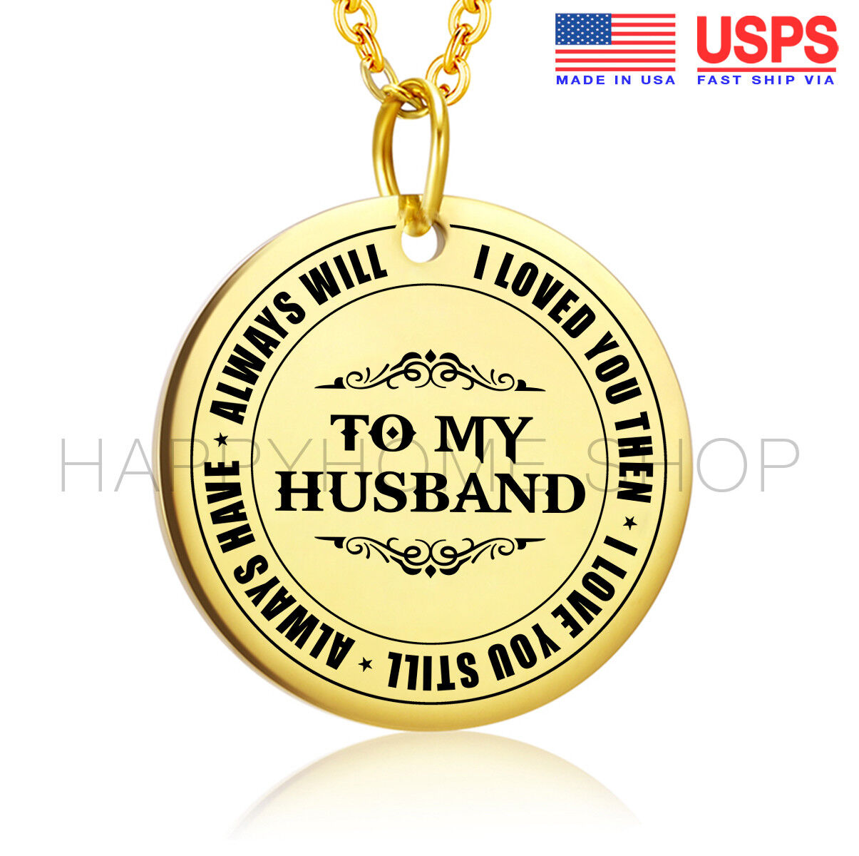 To My Wife Necklace I Love You Always Have Always Will Best Gift for Wife