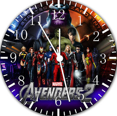 "Avengers wall Clock 10"" will be nice Gift and Room wall Decor E72 for sale  Shipping to India"