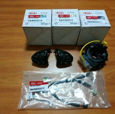 NEW OEM Remote Control Switch, Clock Spring, Wire 4pcs 2018-2019 Kia Picanto
