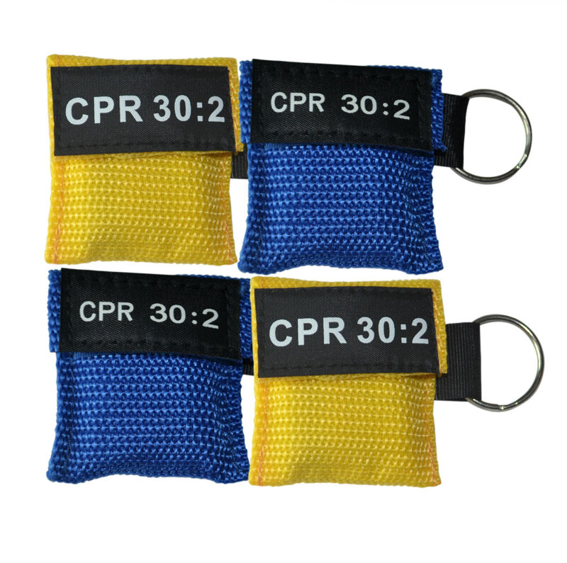2pcs First Aid Cpr Mask Cpr Face Shield Emergency Mask One-way Valve Pocket