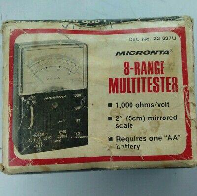 Vintage Radio Shack Micronta 22-027u 8-range Multitester 1000 Ohmsvolt Works