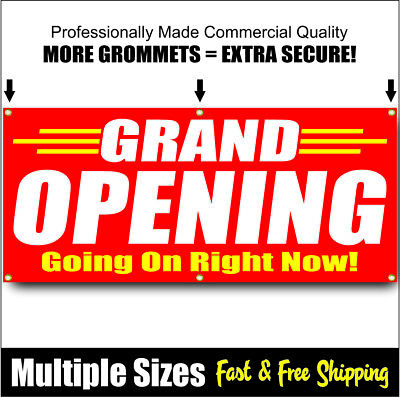 Grand Opening Banner Sign Now Open Sale New Management Red 01