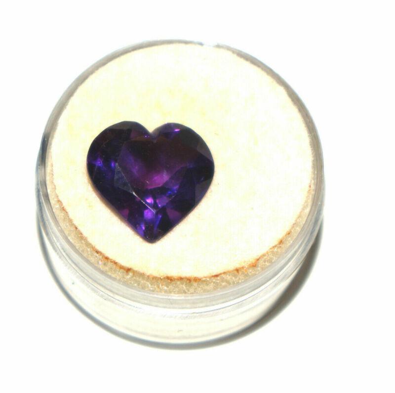 5.96ct Amethyst Heart Shaped Gemstone