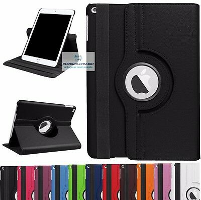360 Rotating Smart Leather Case Cover with stand for Ipad 5 2017 5th Gen 9.7