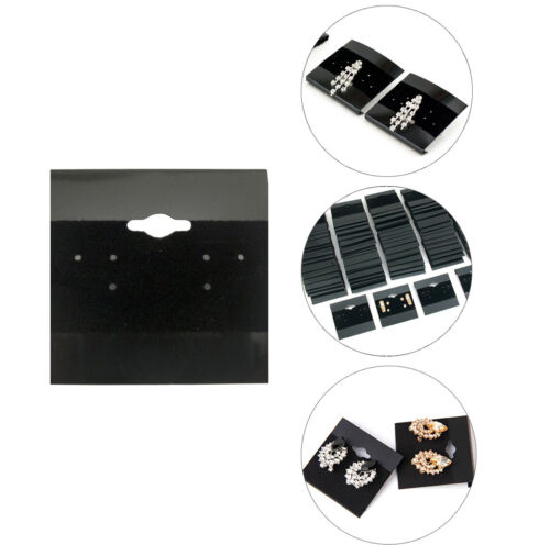"""100pk Black Earring Display Flocked Cards Packaging  Jewelry 2"""" x 2"""" inches"""