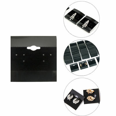 200pcs Black 2x2 Earring Display Hanging Flocked Cards Jewelry Showcase Bulk
